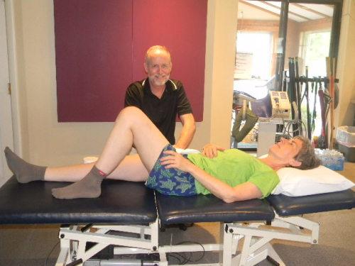 PT Michael Noonan and patient