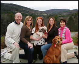 Owner Michael Noonan and his family